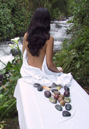 Hot Stone Massage by the river