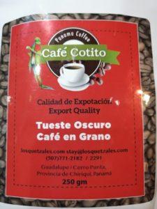 El Cotito Coffee- Chiriqui Panama
